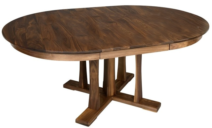 Walnut Pacific Pedestal Extension table